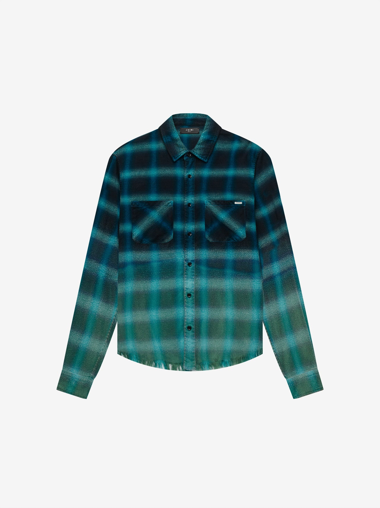 BLEACHED SHADOW PLAID - CYAN