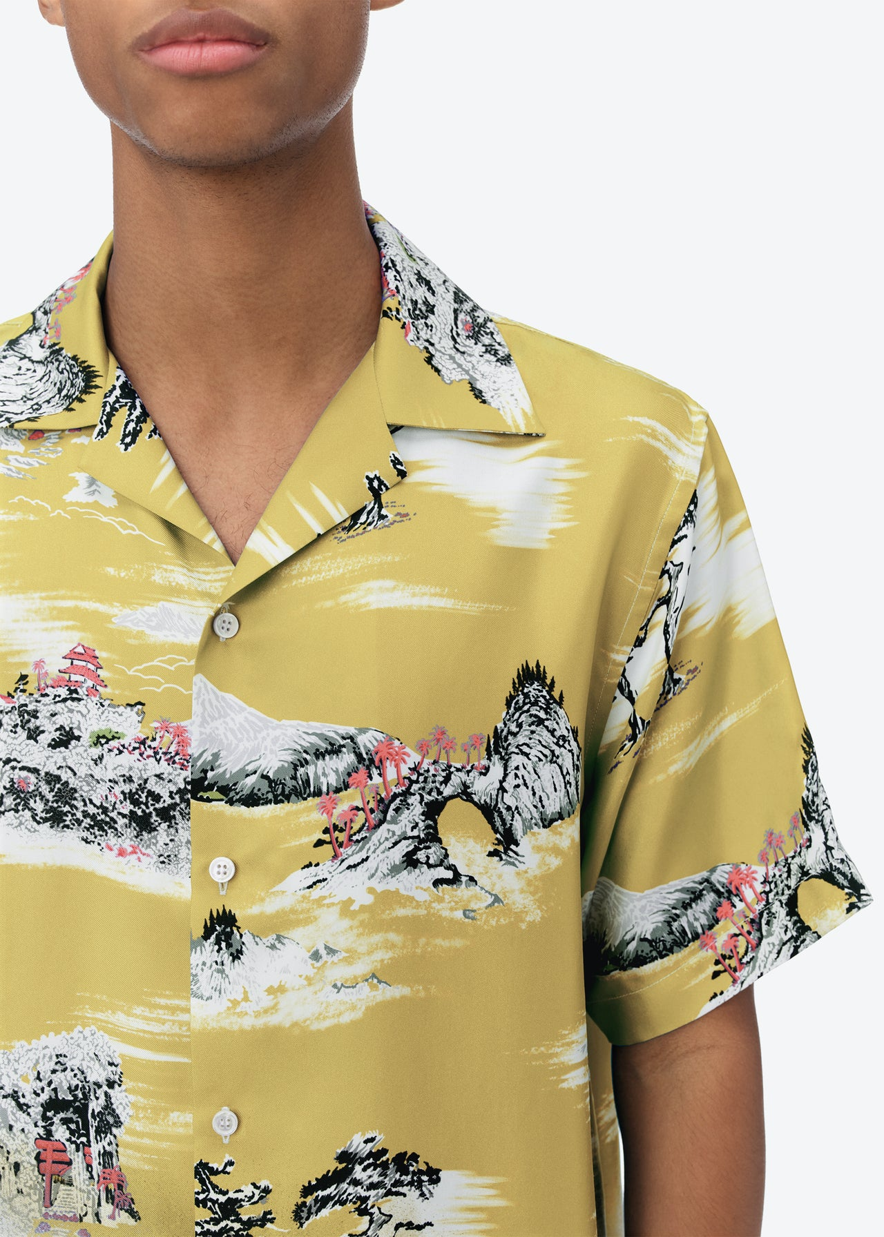 FADED ALOHA SHORT SLEEVE SHIRT - CANARY