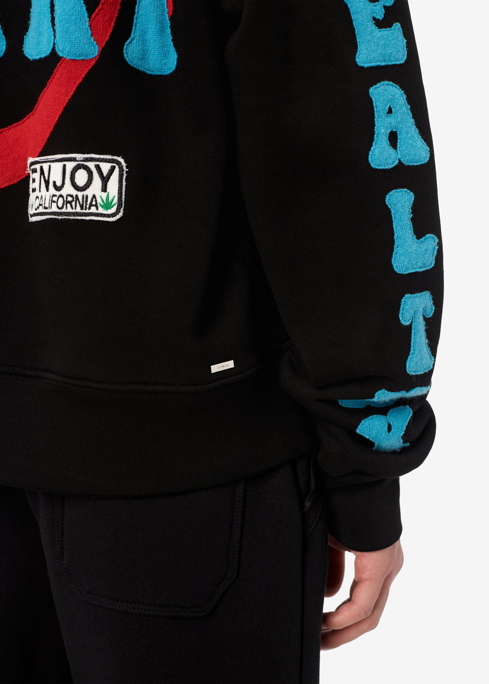 A LOVE MOVEMENT HEALTHY BODY HOODIE - BLACK