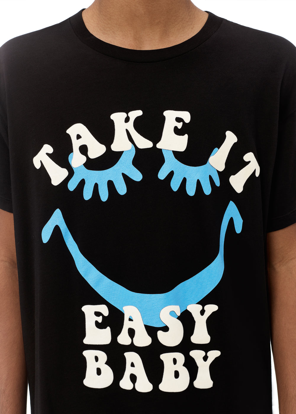 A LOVE MOVEMENT TAKE IT EASY TEE - BLACK