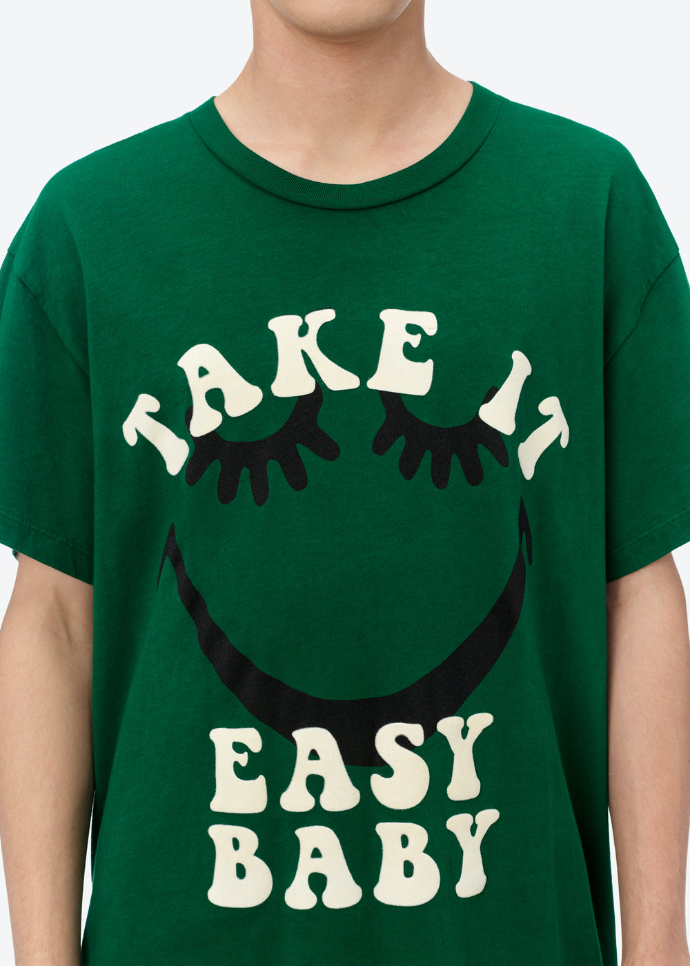 A LOVE MOVEMENT TAKE IT EASY TEE - TENNIS GREEN