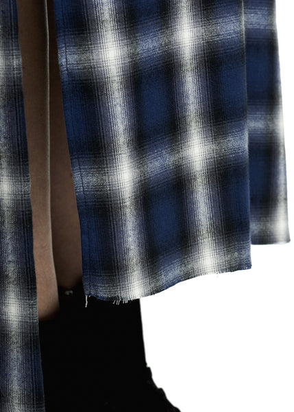 FLANNEL SKIRT BLUE