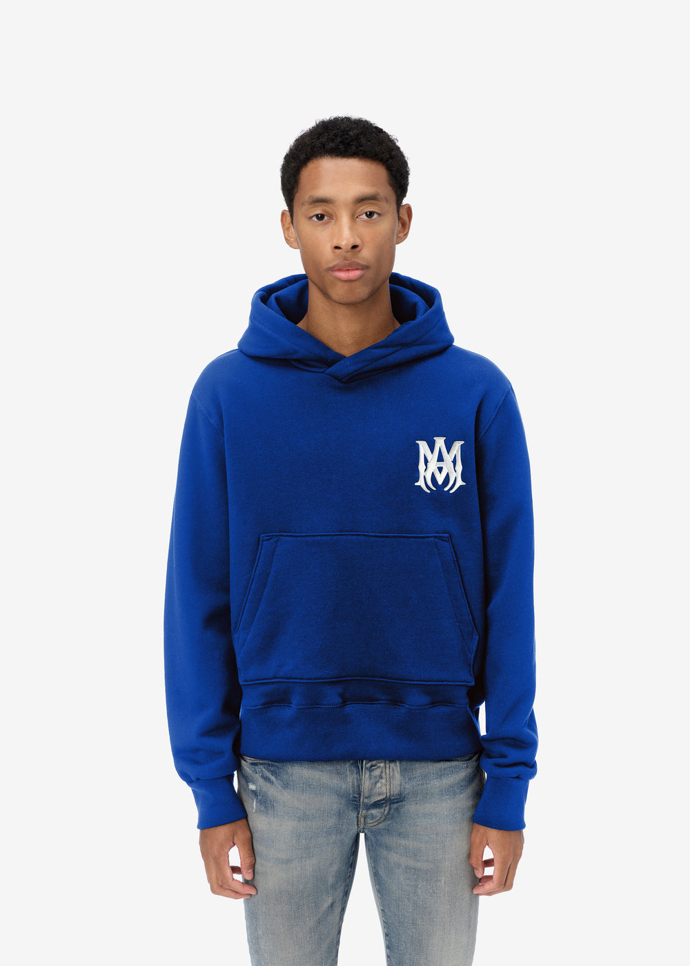 M.A. FITTED HOODIE - VARSITY BLUE