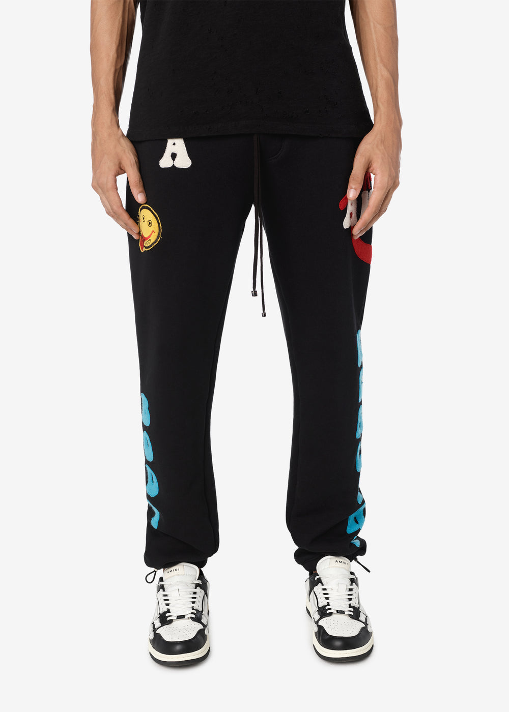A LOVE MOVEMENT HEALTHY BODY SWEATPANTS - BLACK