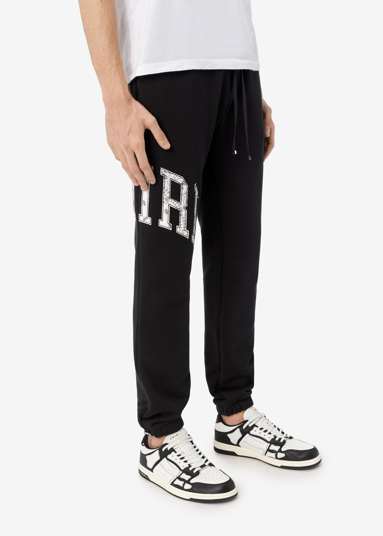 AMIRI VARSITY SWEATPANTS - BLACK
