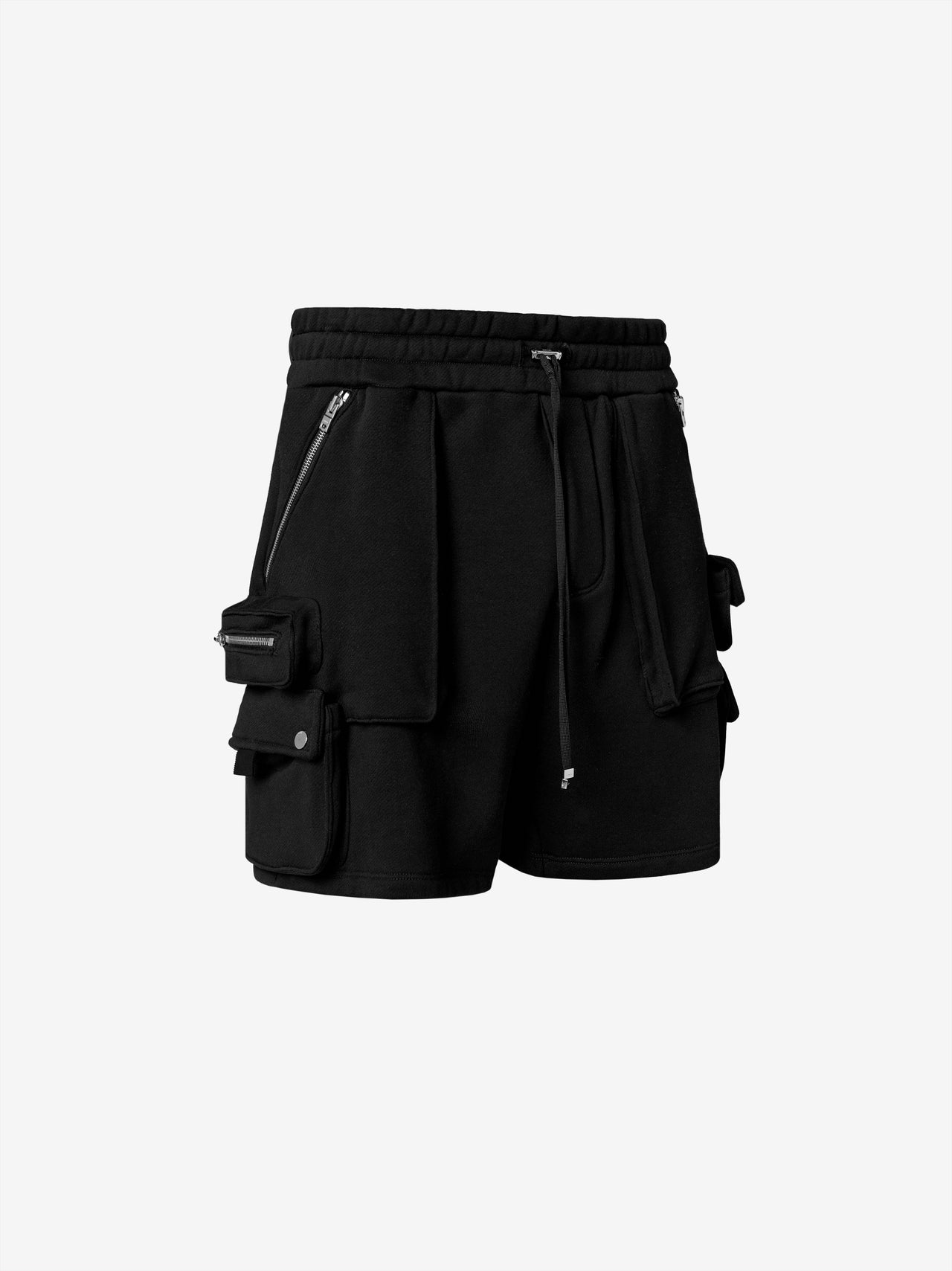 TACTICAL CARGO SWEATSHORTS - BLACK
