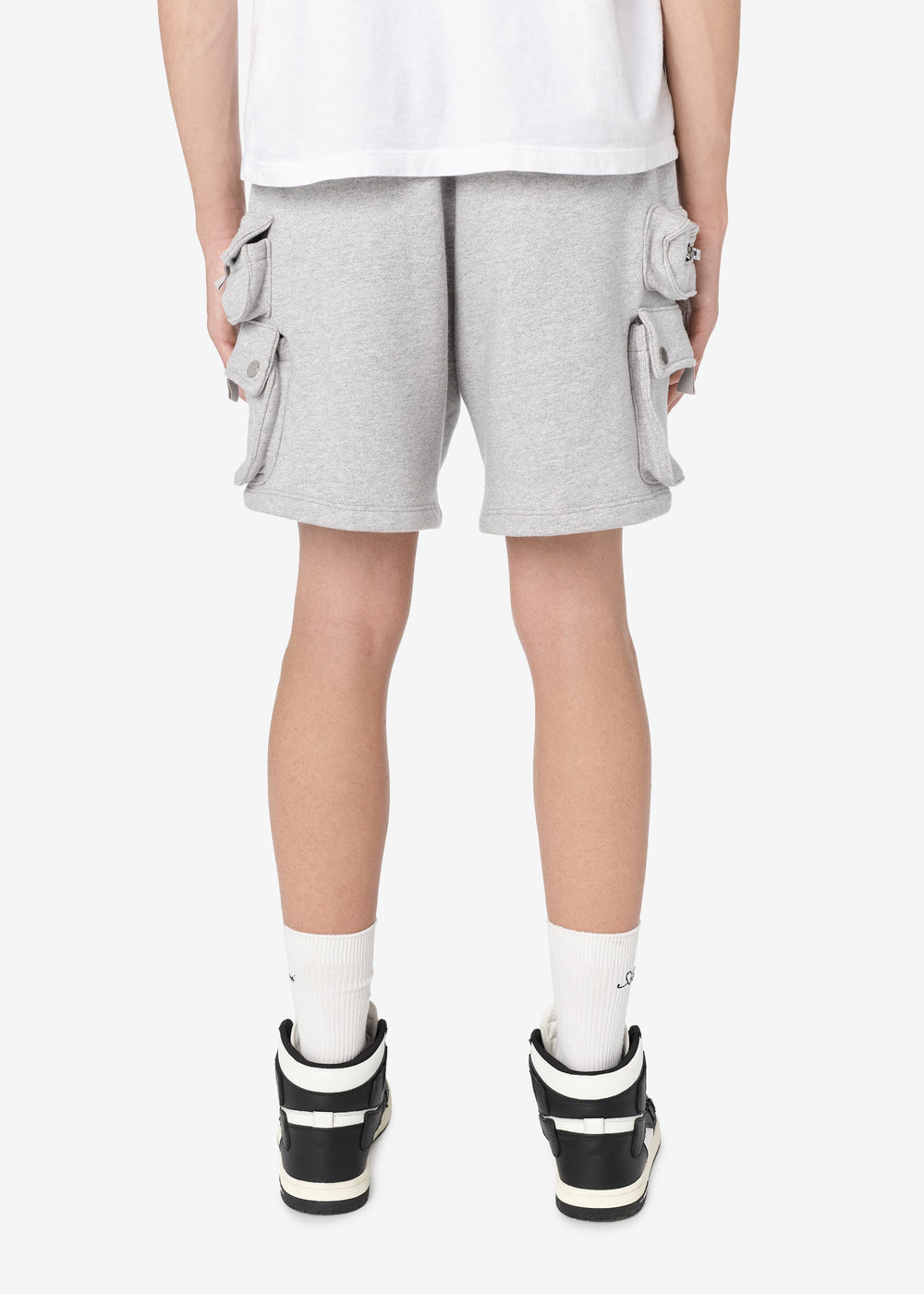 TACTICAL CARGO SWEATSHORTS - HEATHER GREY