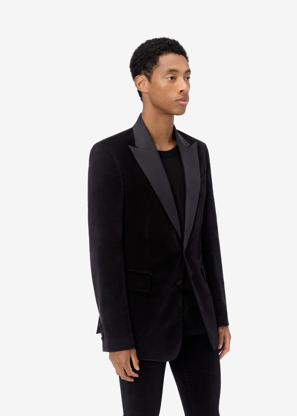 SINGLE BREASTED BLAZER - BLACK