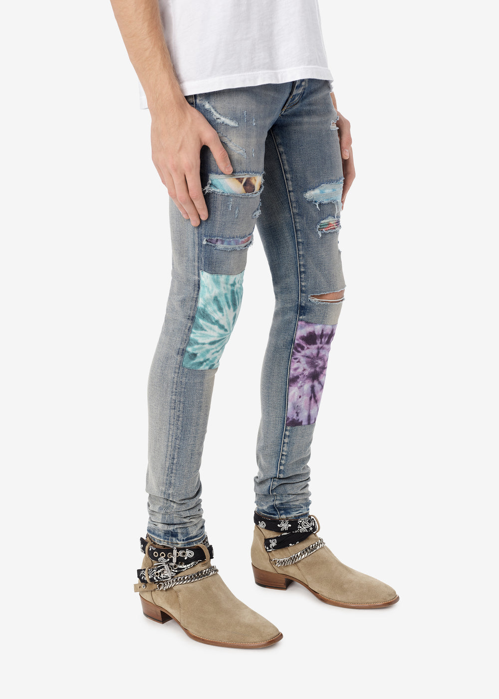 TIE DYE ART PATCH JEAN - ORIGINAL INDIGO