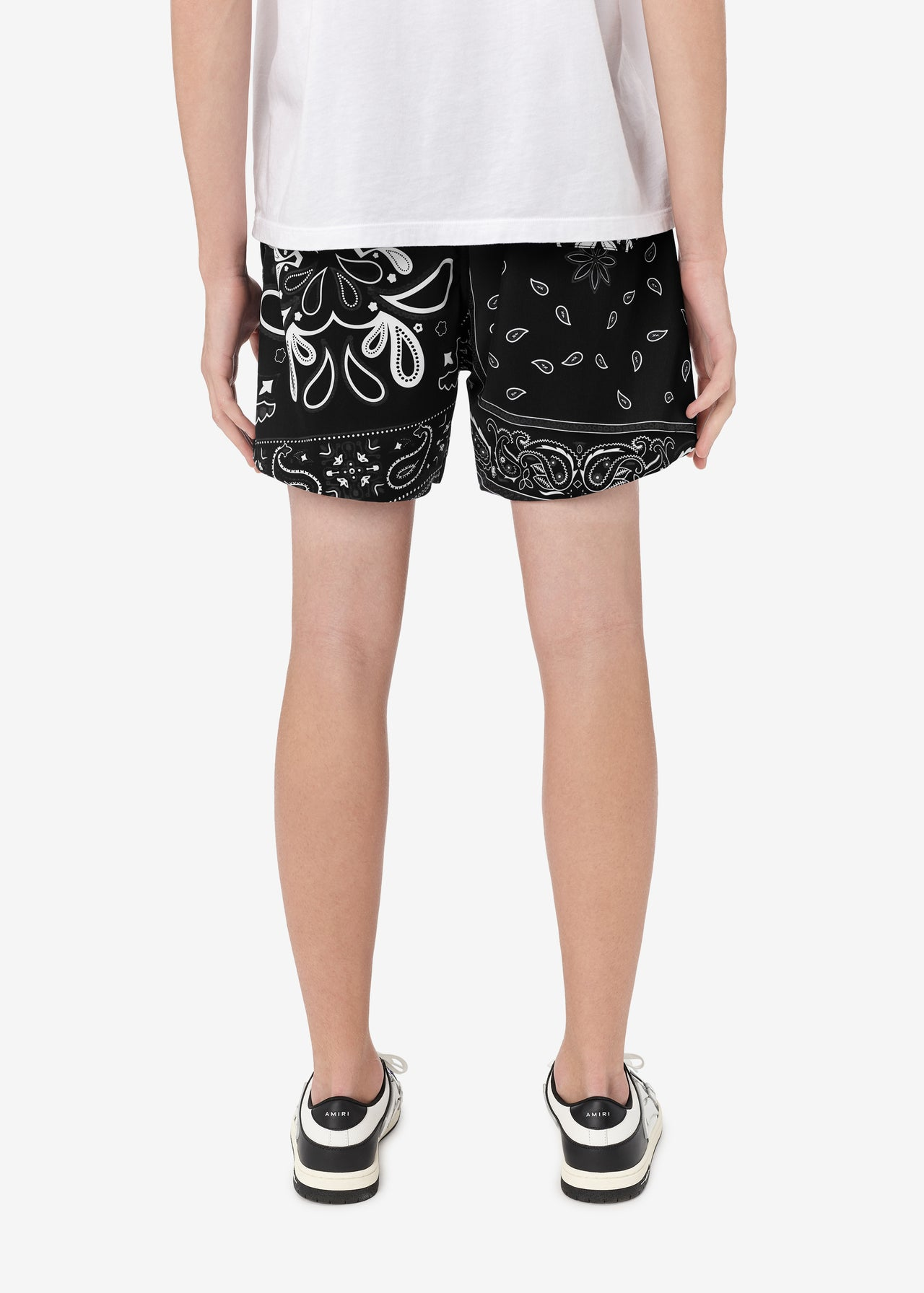 BANDANA SWIM TRUNK - BLACK