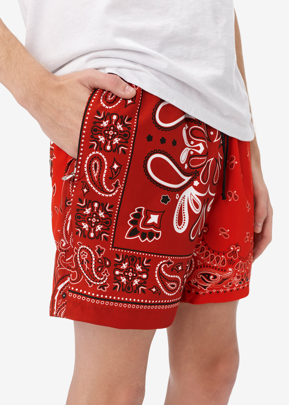 BANDANA SWIM TRUNK - Red