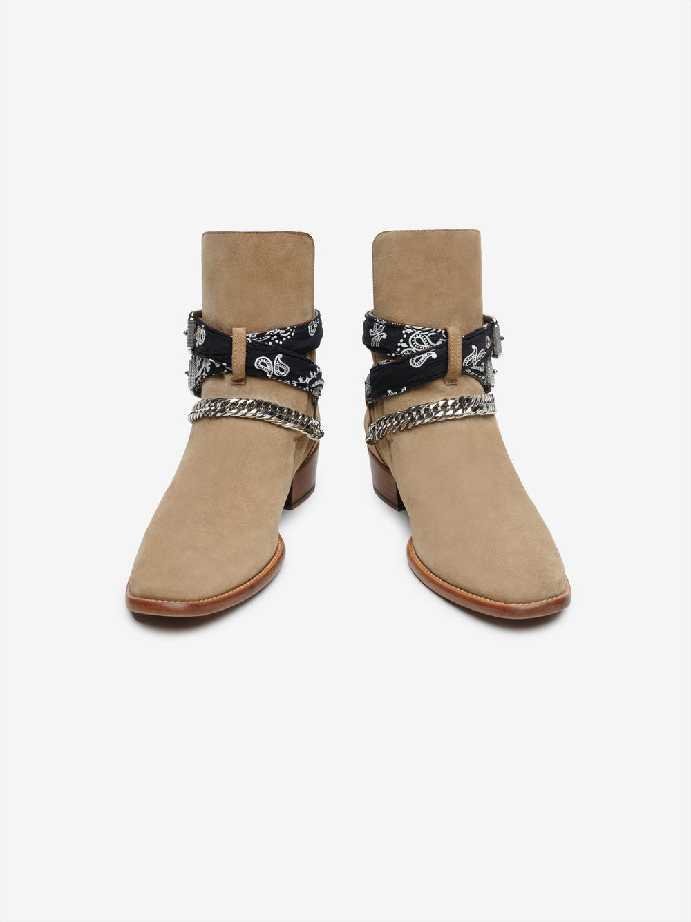BANDANA BUCKLE BOOT - Tan