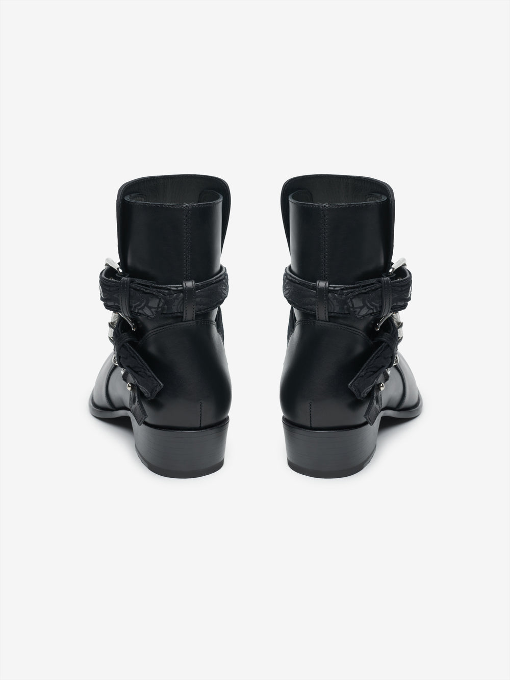 BLACK BANDANA BUCKLE BOOT - BLACK / BLACK