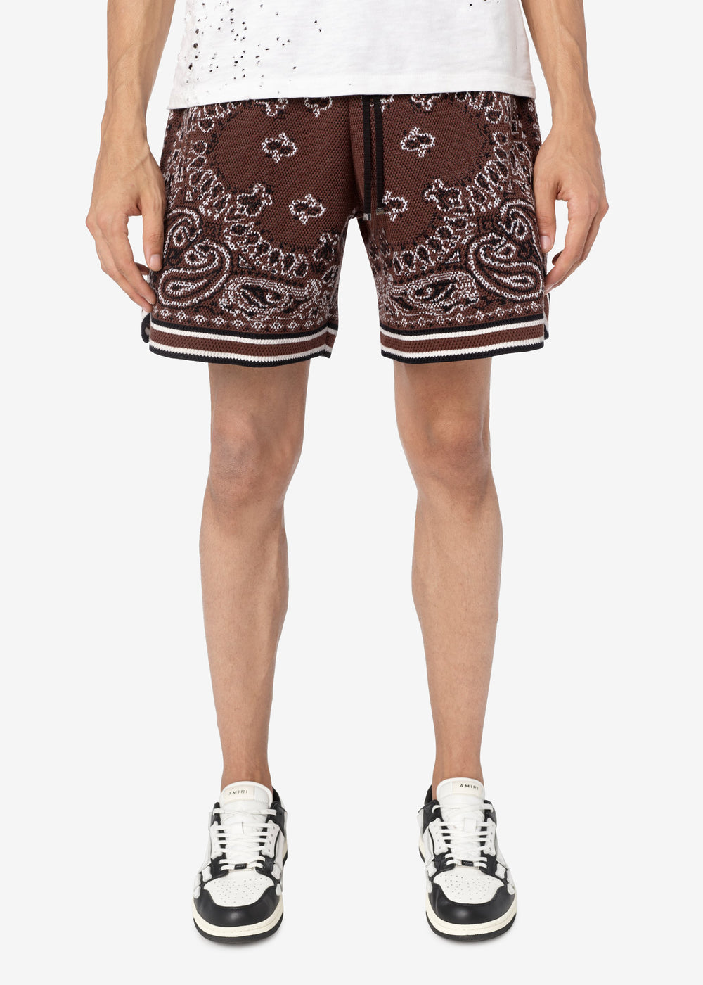 BANDANA B-BALL SHORTS - DARK BROWN