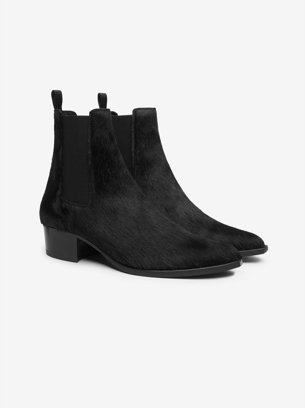 CHELSEA LEATHER SOLE BOOT - BLACK / BLACK