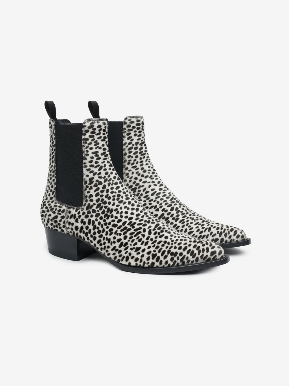 CHELSEA LEATHER SOLE BOOT - Black / White