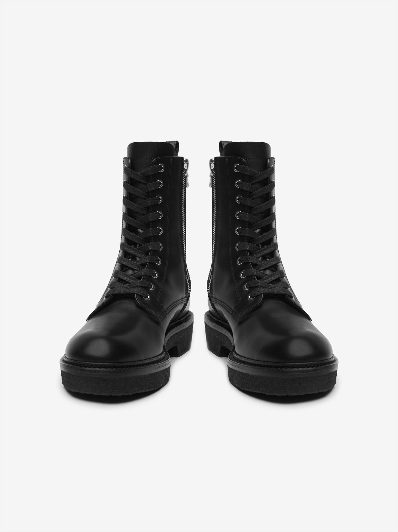COMBAT CREPE SOLE BOOT - BLACK / BLACK