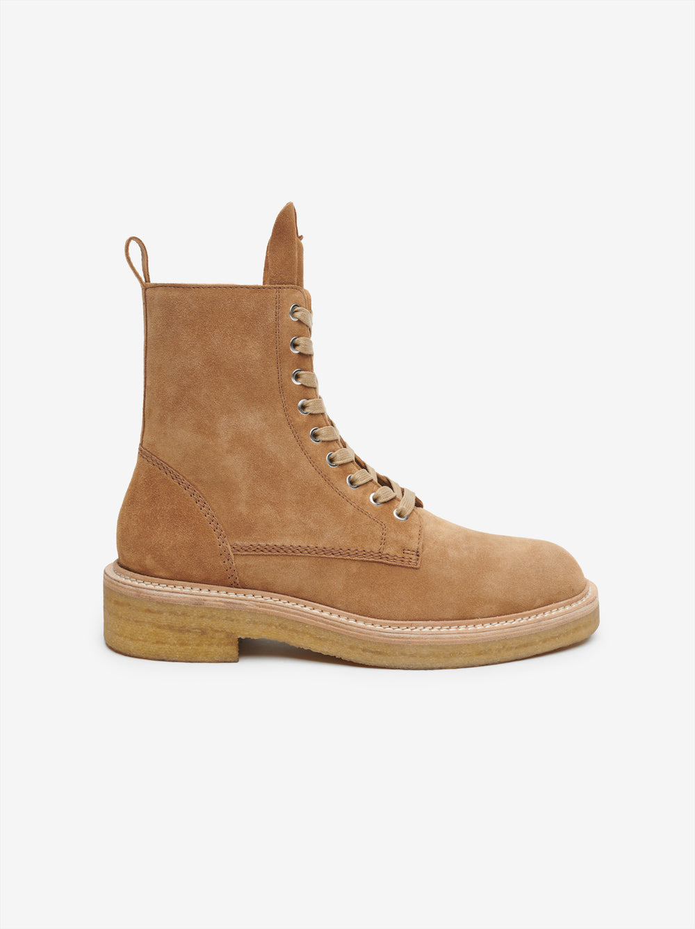 COMBAT CREPE SOLE BOOT - BROWN / NATURAL