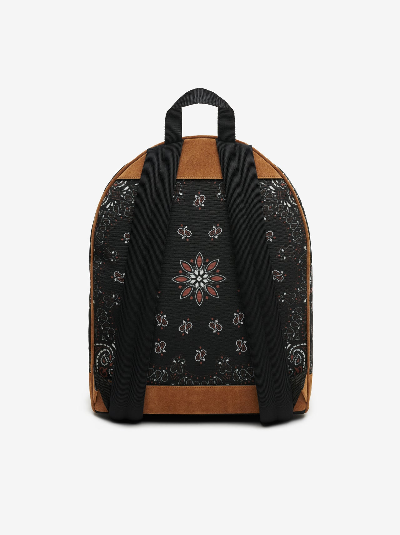 CANVAS / SUEDE BANDANA BACKPACK - BLACK / TAN