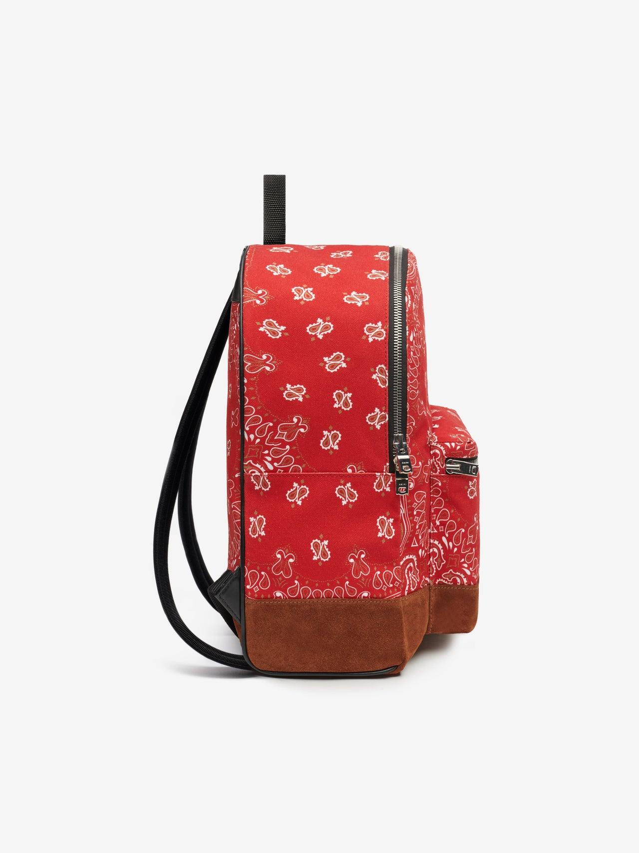 CANVAS / SUEDE BANDANA BACKPACK - RED / TAN