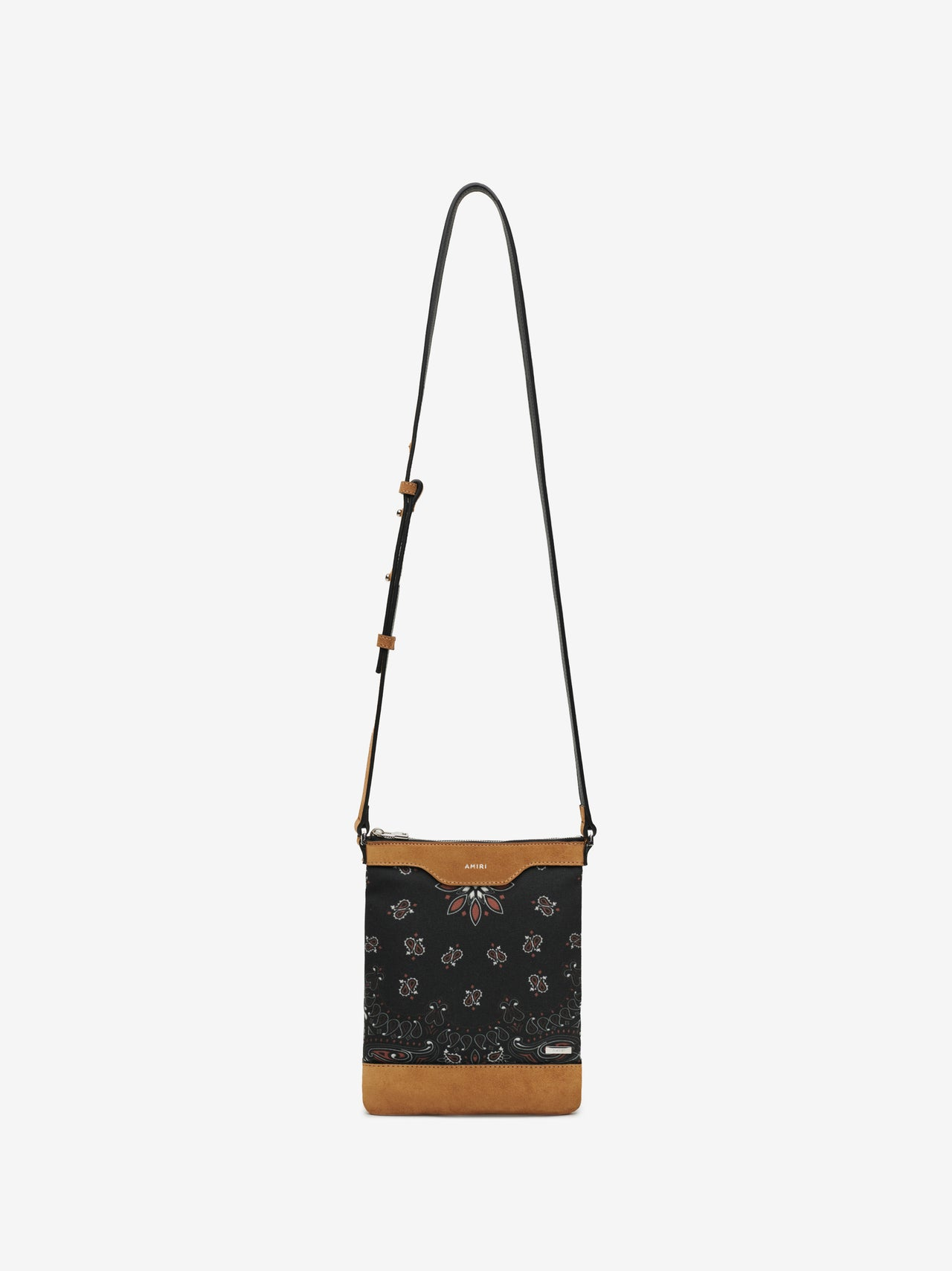 CANVAS / SUEDE BANDANA CROSSBODY - BLACK / TAN