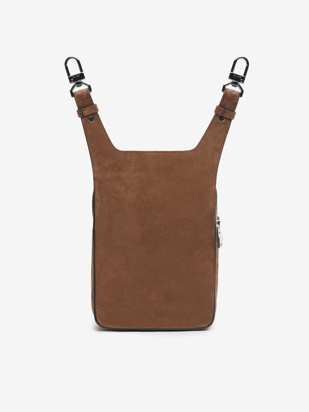 SUEDE HIP POUCH - TOBACCO