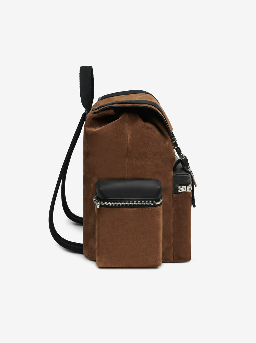 SUEDE RUCKSACK BACKPACK - TOBACCO