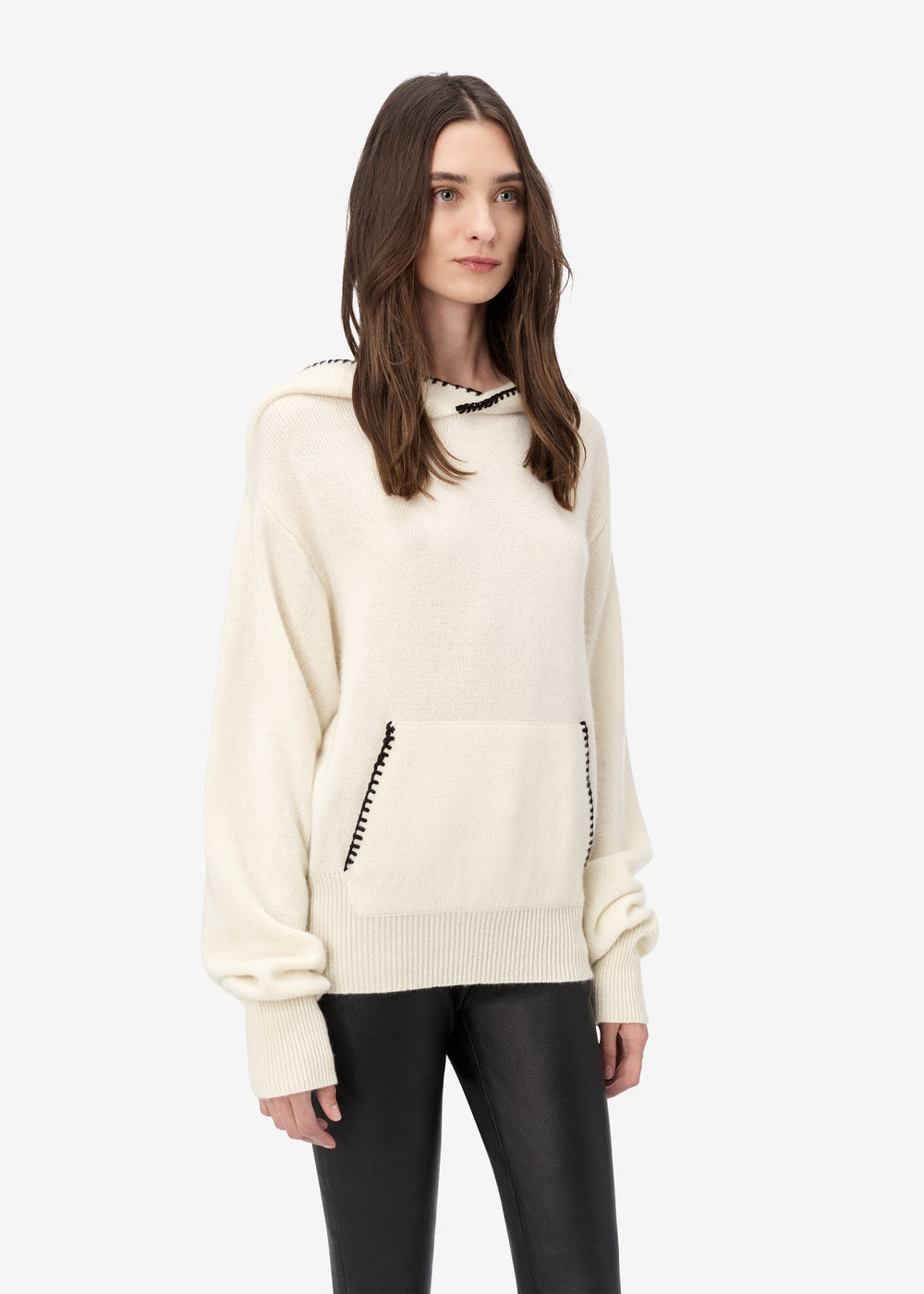 CASHMERE HOODIE - Natural