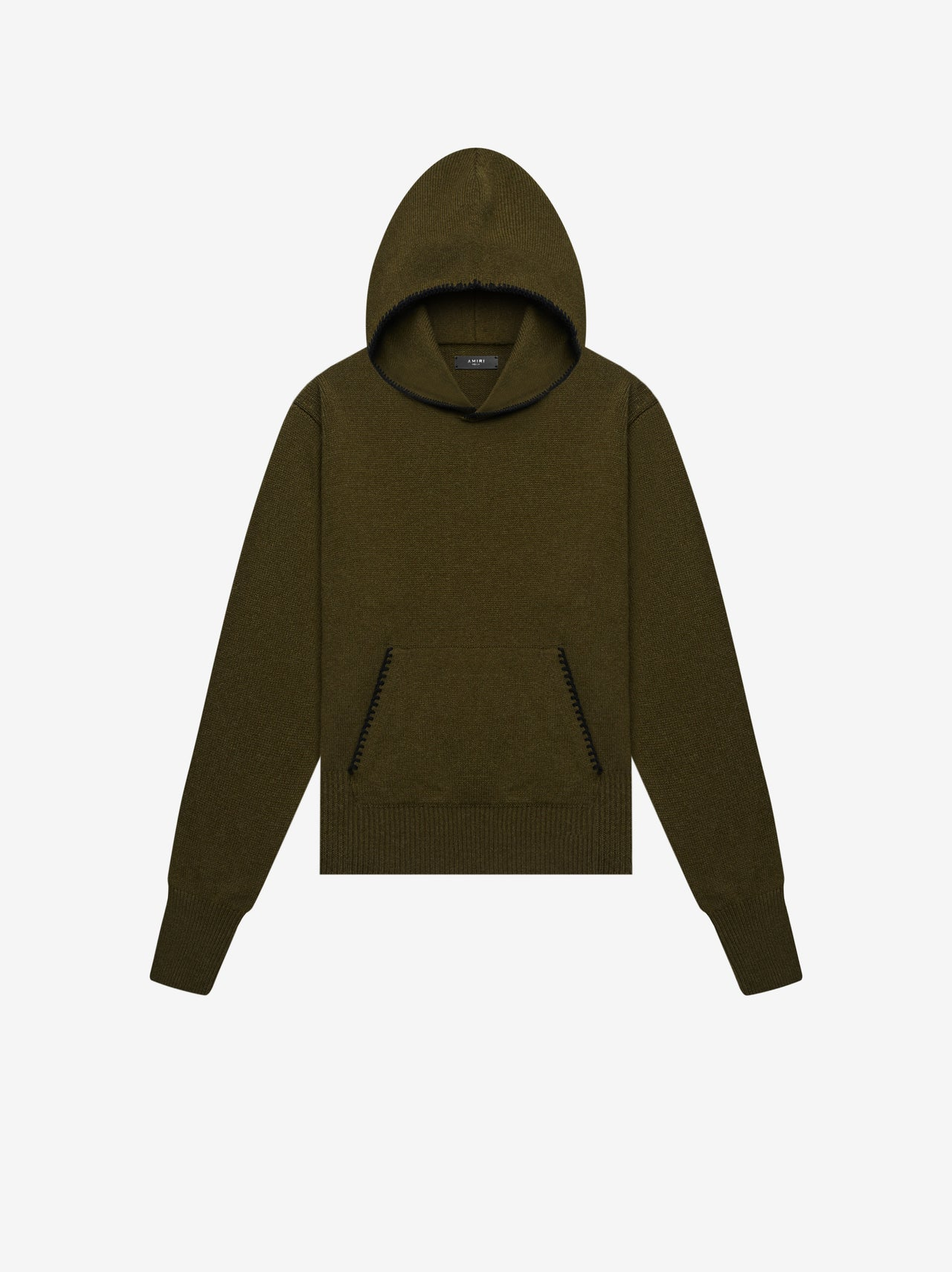 CASHMERE HOODIE - MILITARY GREEN