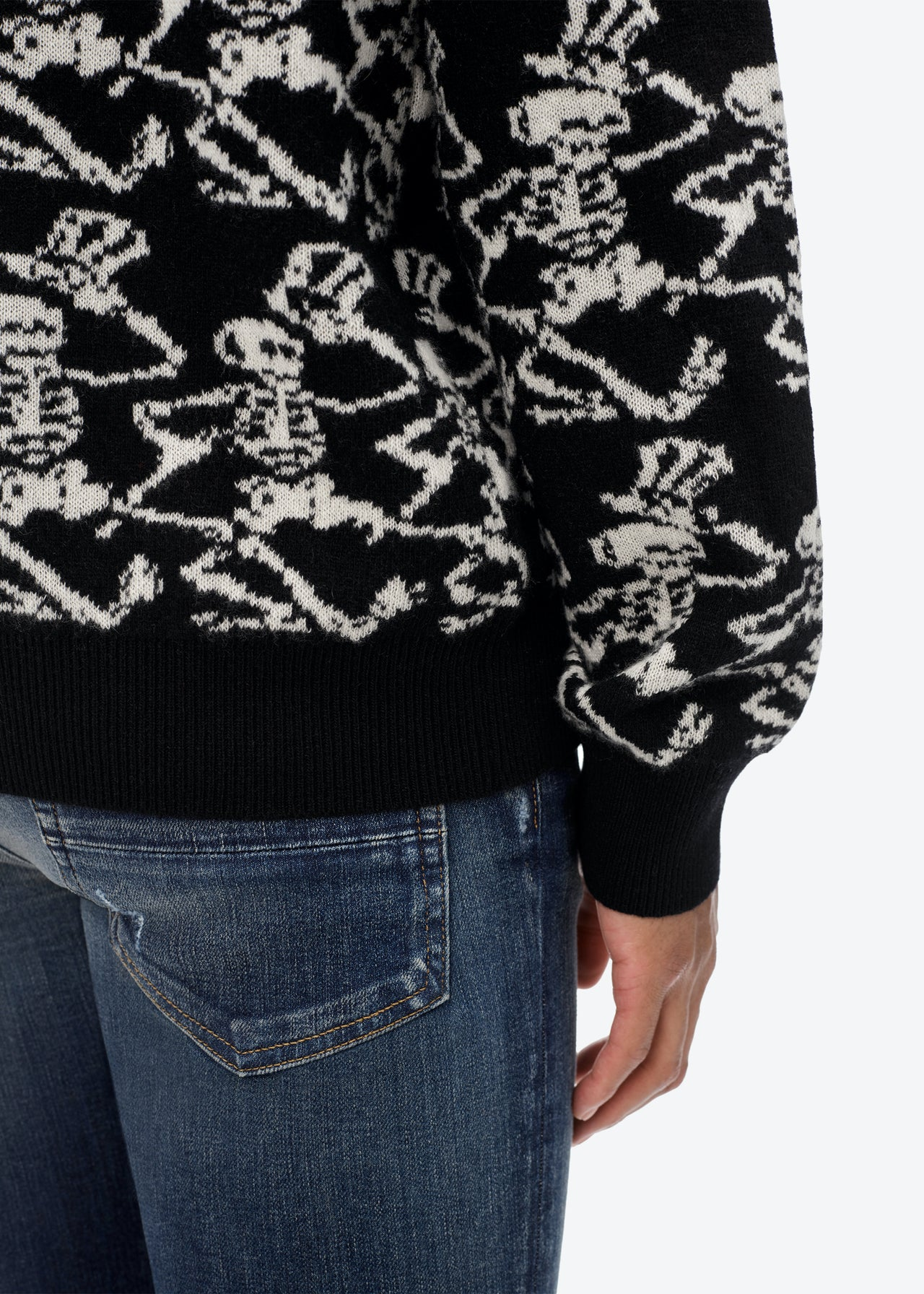 GRATEFUL DEAD SKELETON SWEATER - Black / White
