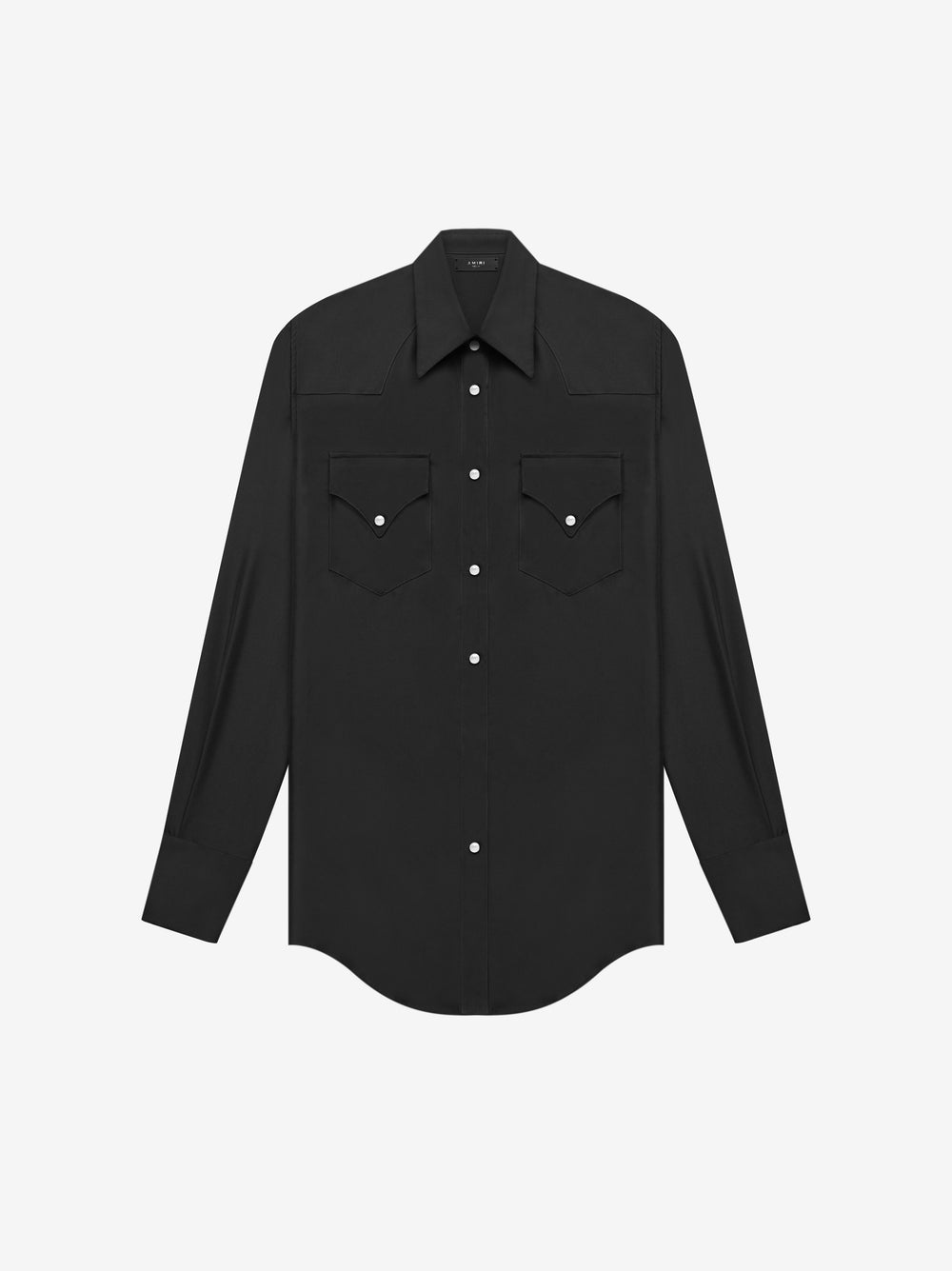 WESTERN SILK SHIRT - BLACK