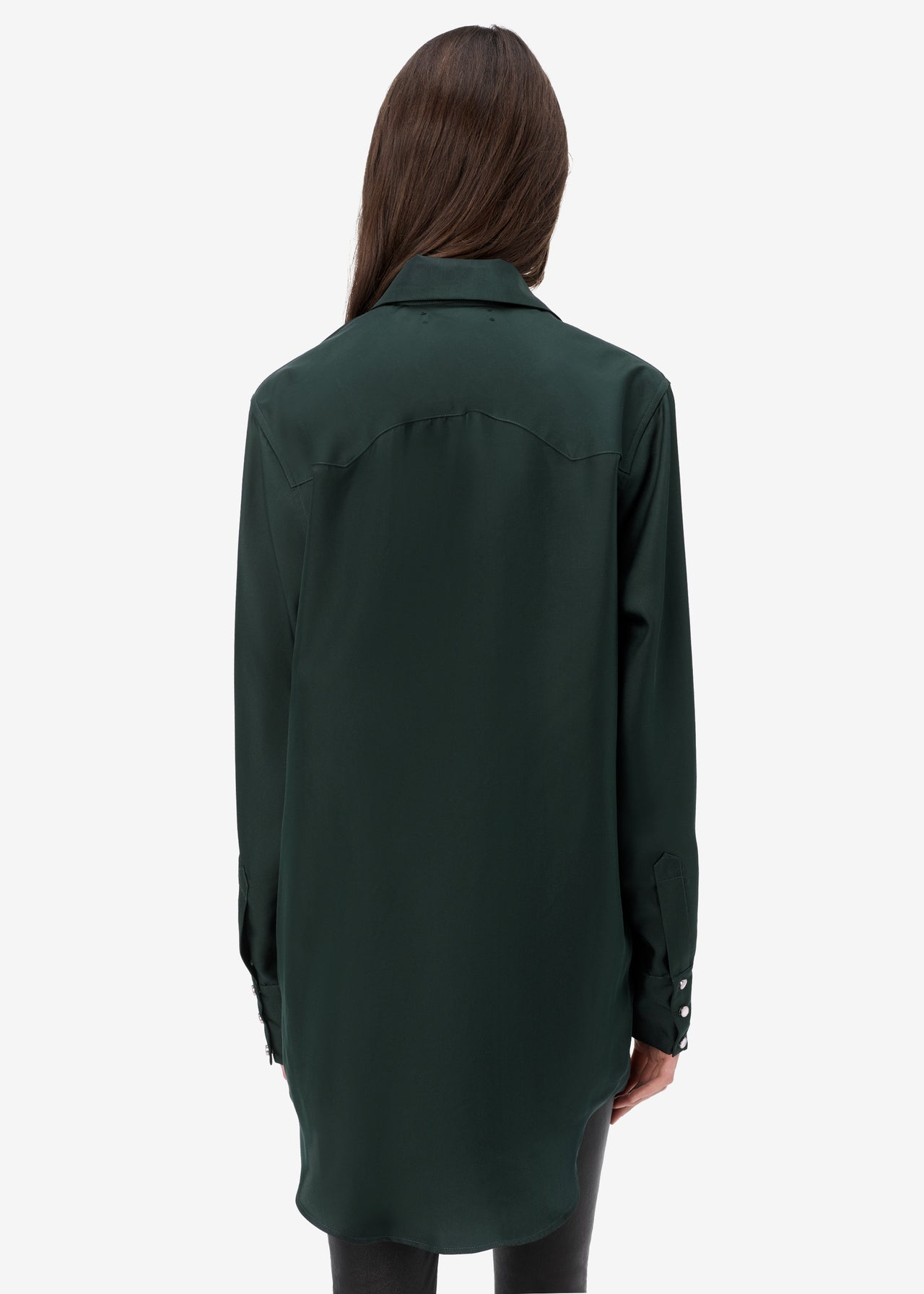 WESTERN SILK SHIRT - MILITARY GREEN