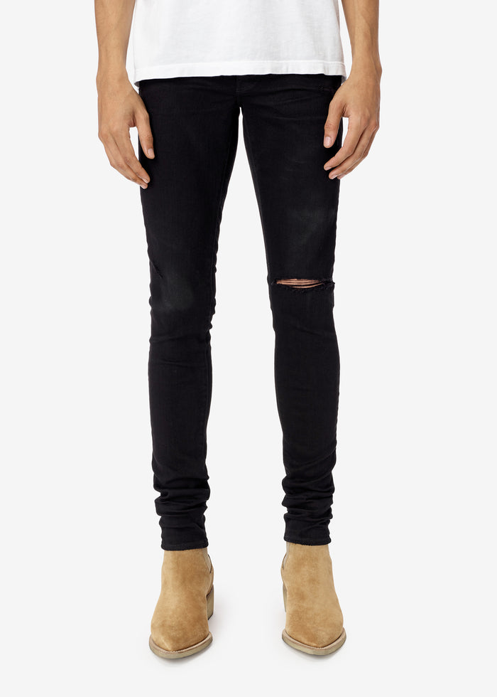 Slit Knee Jean Web Exclusive - Black
