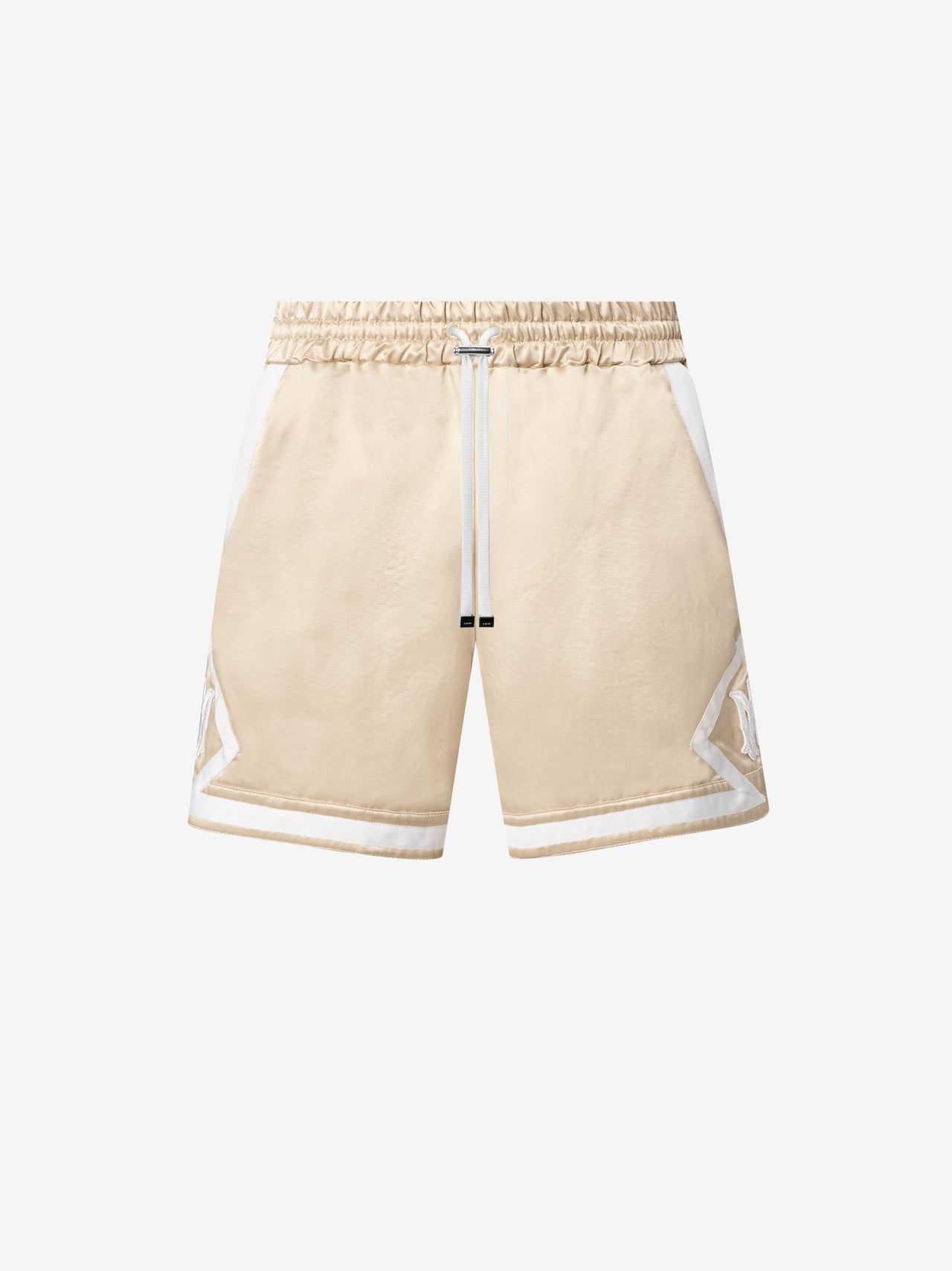 DRAWSTRING BOXING SHORT - CHAMPAGNE / WHITE