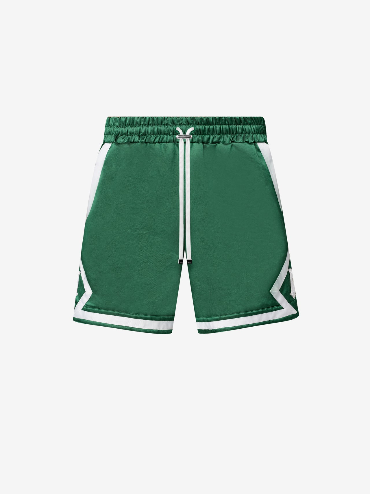 DRAWSTRING BOXING SHORT - TENNIS GREEN / WHITE