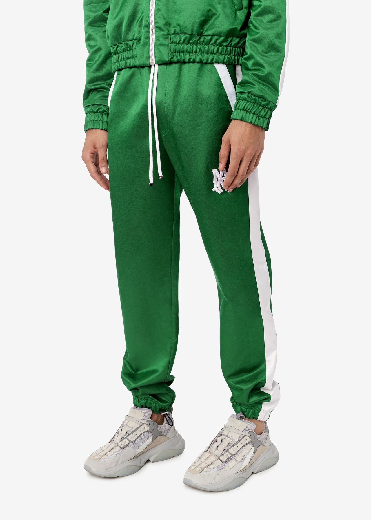 DRAWSTRING TRACKPANT - TENNIS GREEN / WHITE
