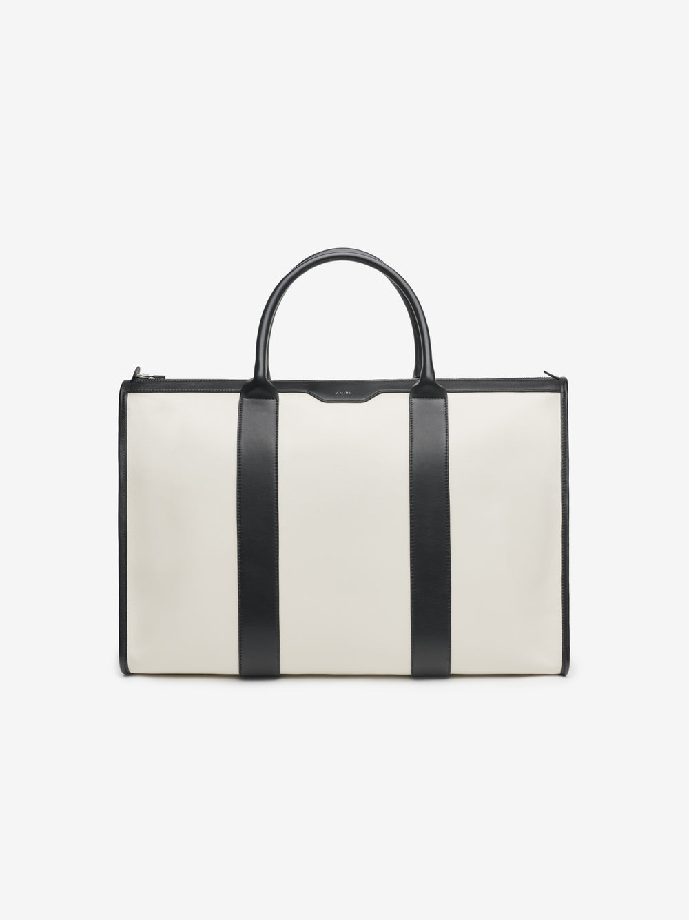 LEATHER WEEKENDER - BLACK / NATURAL