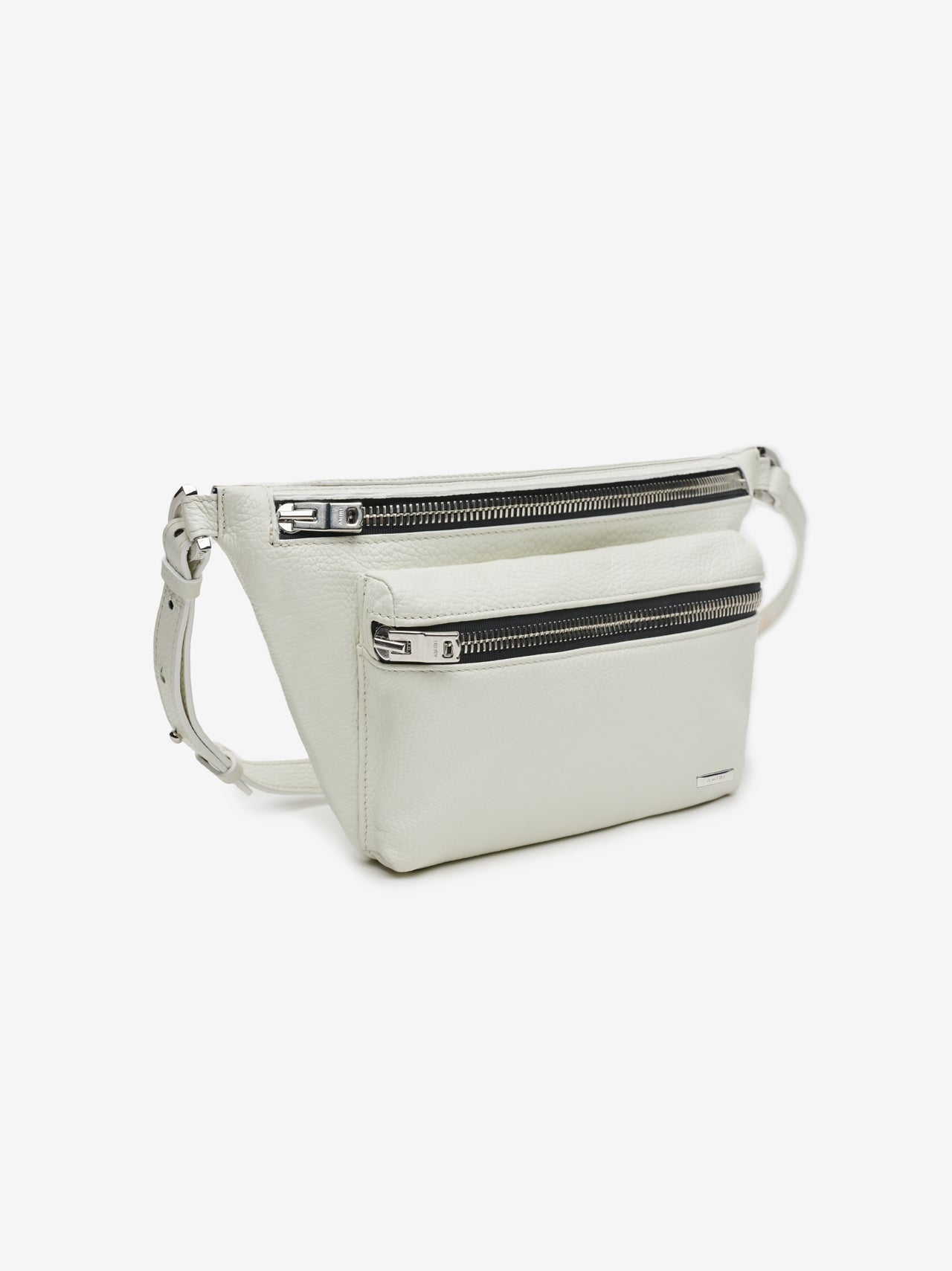 LEATHER BUMBAG - White