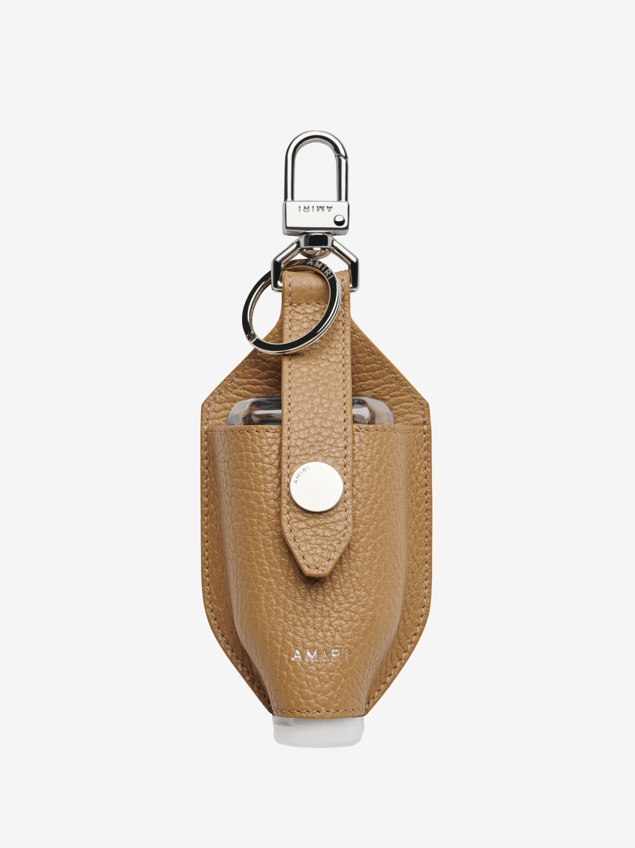 LEATHER HAND SANITIZER HOLDER - OATMEAL