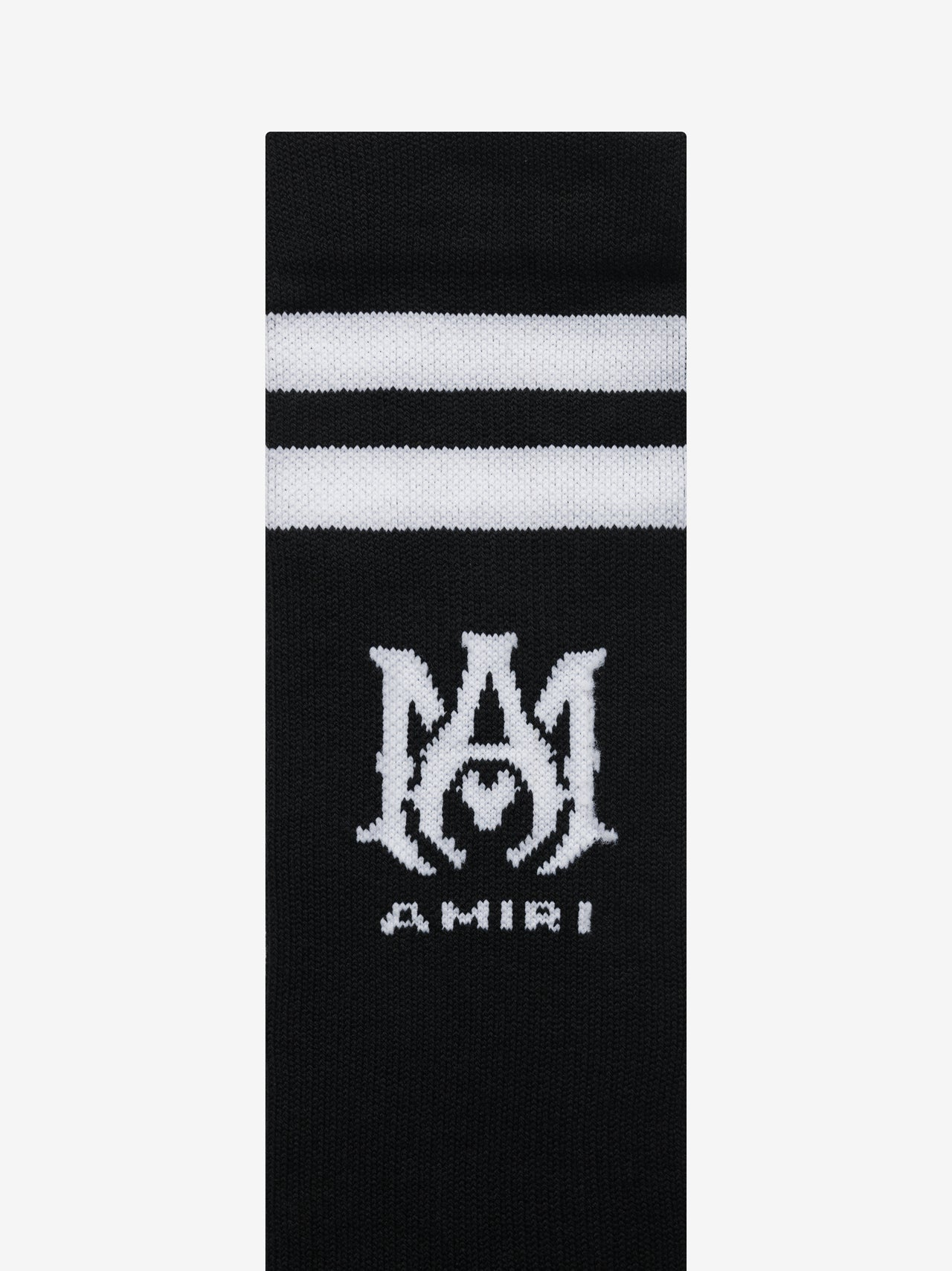 RIBBED M.A. ATHLETIC SOCKS - BLACK