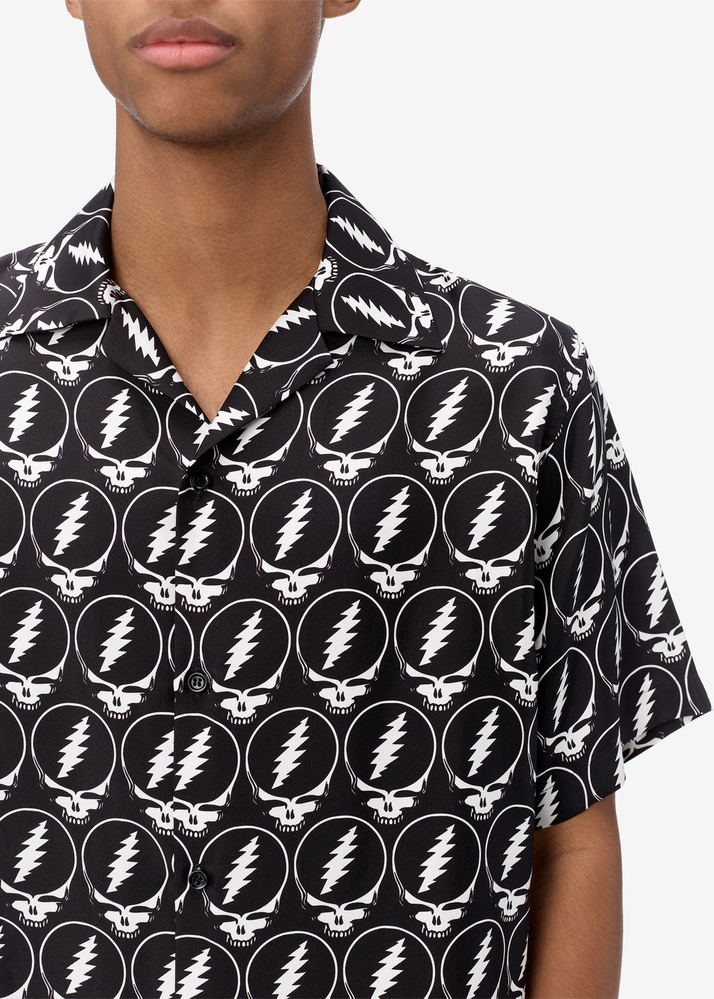 GRATEFUL DEAD SHORT SLEEVE SHIRT - Black / White