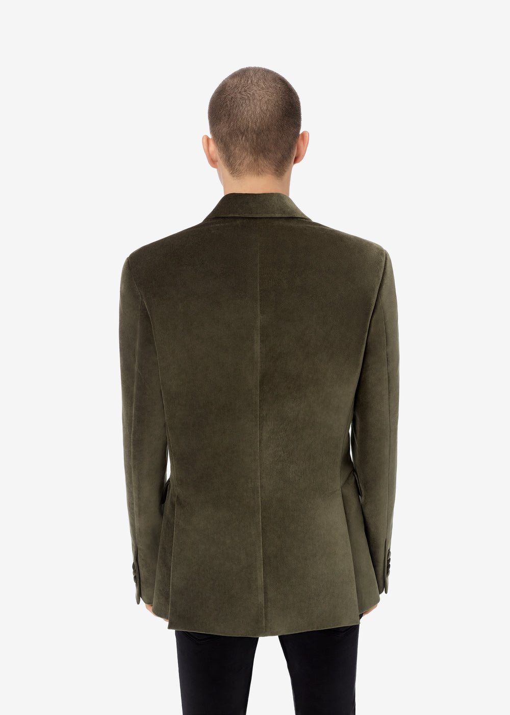 SINGLE BREASTED BLAZER - MILITARY GREEN