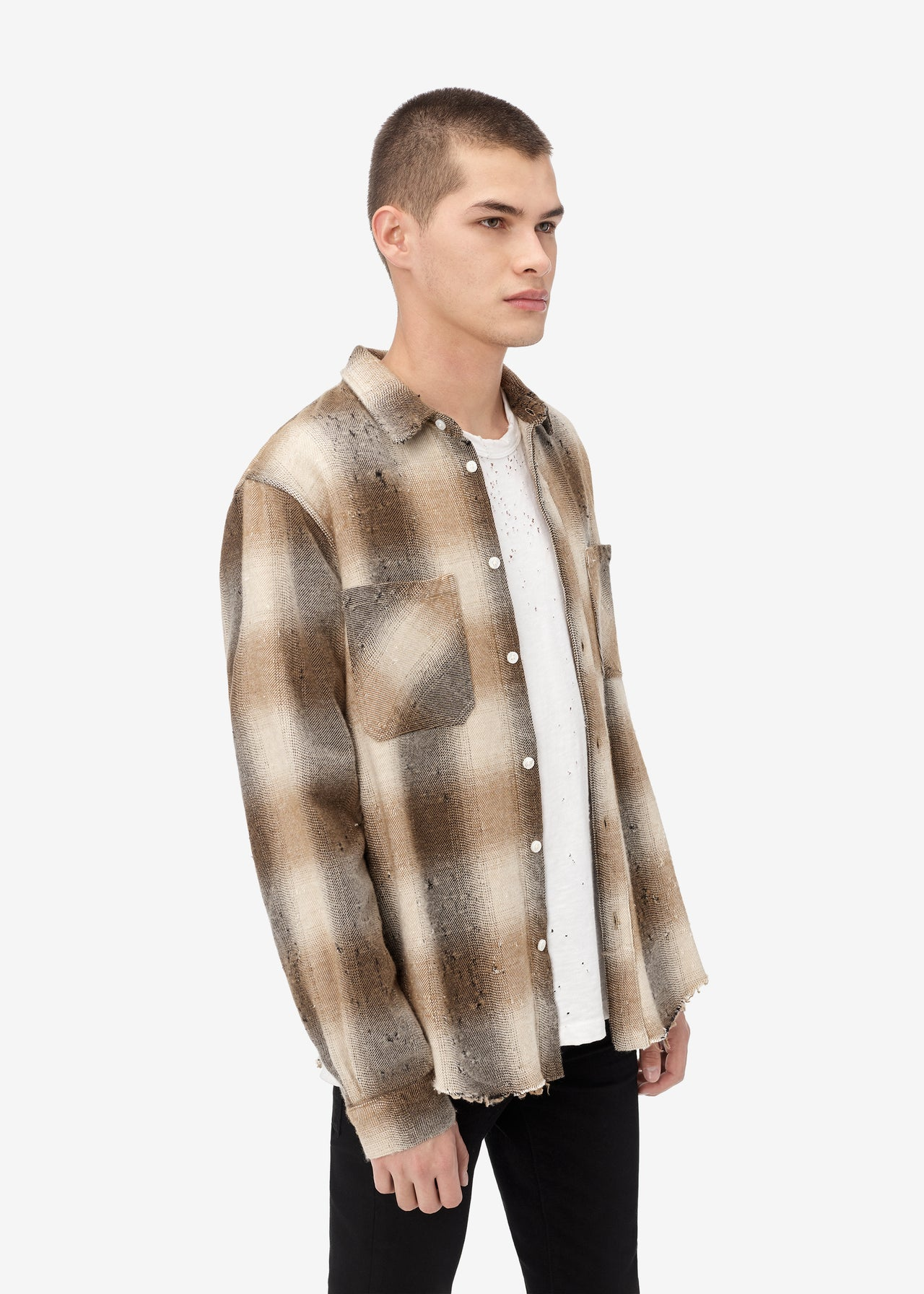 SHOTGUN FLANNEL - DARK BROWN