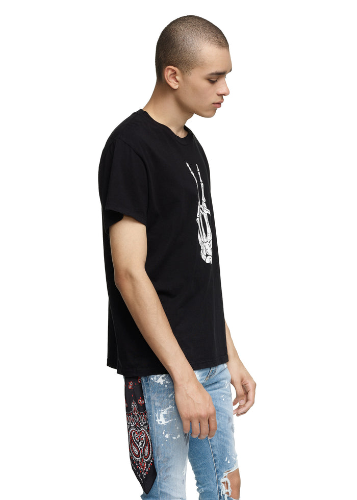 Bones Peace Tee Black/White