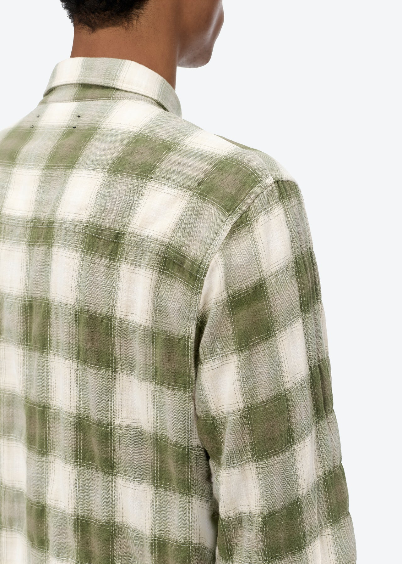 SUNFADED FLANNEL - MILITARY GREEN