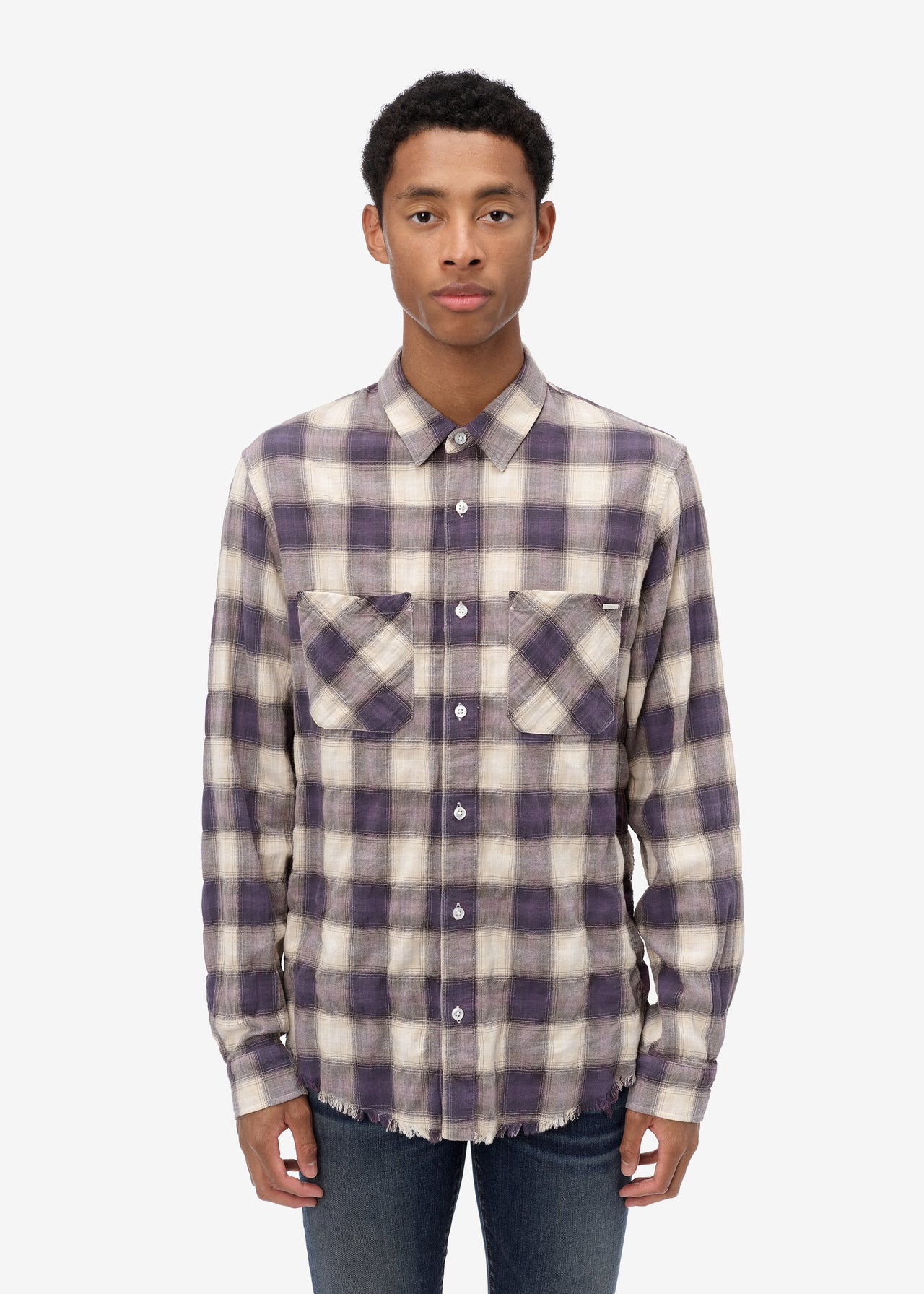 SUNFADED FLANNEL - CYAN