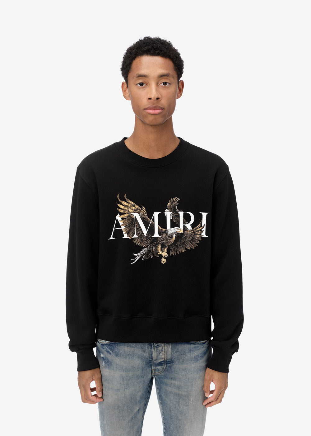 AMIRI EAGLE CREW - BLACK