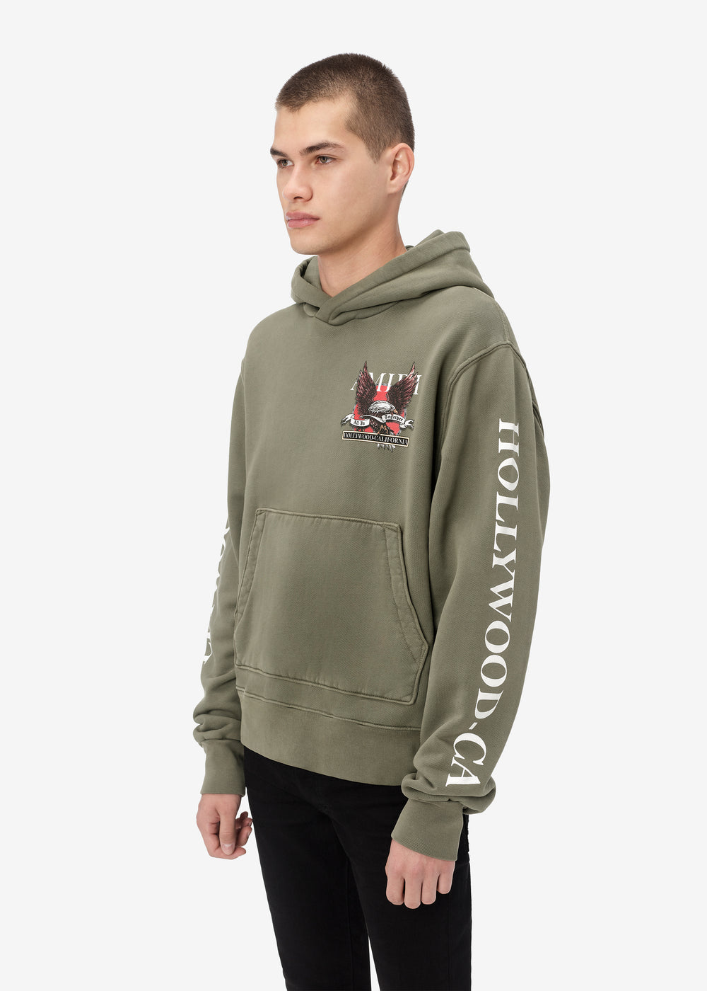 EAGLE HOLLYWOOD HOODIE - MILITARY GREEN