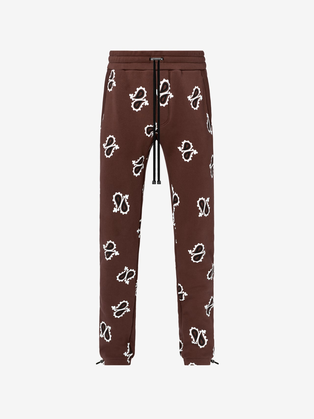 PAISLEY ALL OVER SWEATPANT - DARK BROWN