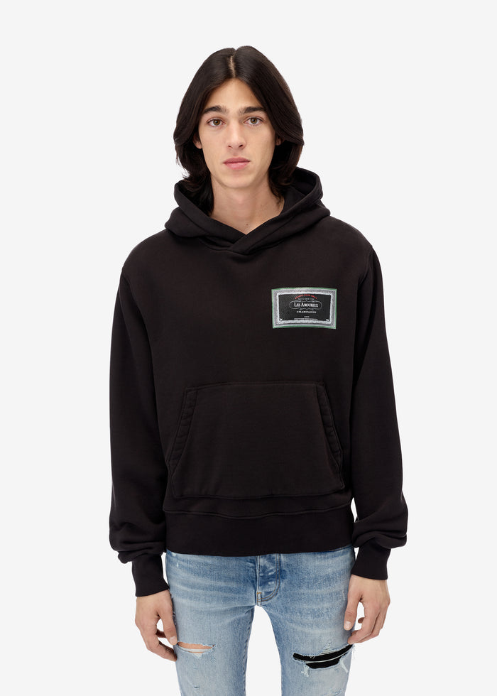 Les Amoureux Gel Label Hoodie Web Exclusive - Black